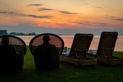 Afslappet solnedgang