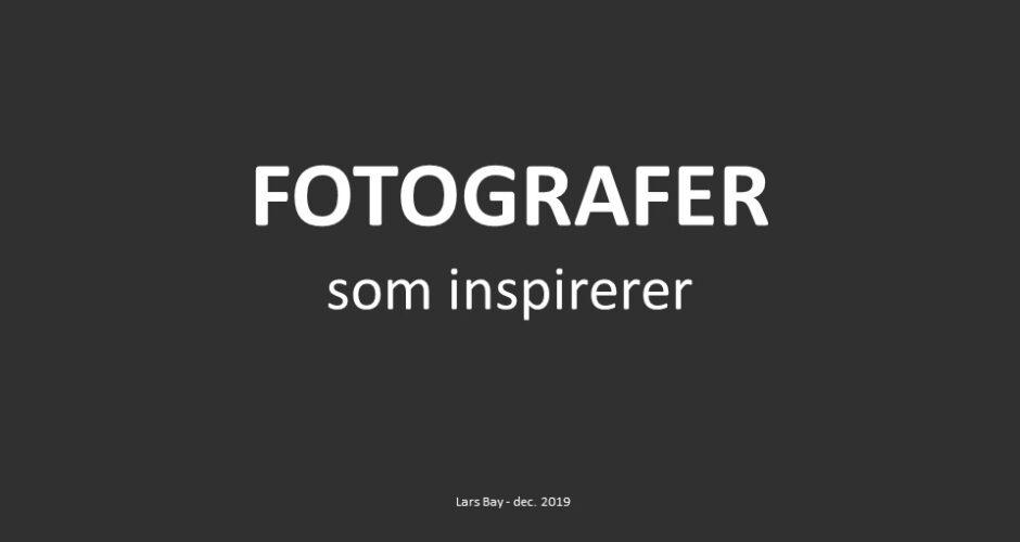 Fotografer som inspirerer